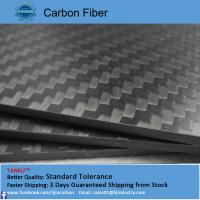 Wholesale Composite 3k Carbon Fiber Sheets / Boards Twill Weave 500mm*600mm*2mm from china suppliers