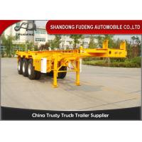Wholesale 20ft 40ft Skeletal Container Semi Trailer With Fuwa Brand Axle Spring Suspension from china suppliers