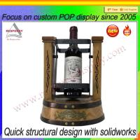 Wholesale Customized OEM & ODM counter wooden wine bottle cradle display stand from china suppliers