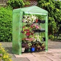 Quality PE Mesh Cover Walk In Greenhouse / Customized Small Garden House No Tools Needls 145*143*195CM 140gsm lined PE for sale