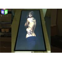 Wholesale Double Side LED Magnetic Open Standing Light Box Board With Curved Angle from china suppliers