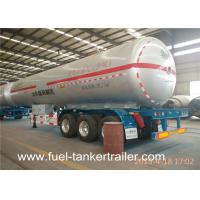 Wholesale tri axle 58.5 cbm 25ton gas tank trailer / shengrun lpg gas trailer / bulk lpg trailer from china suppliers