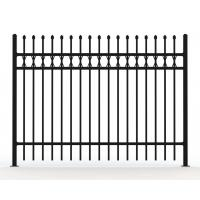 Wholesale Heavy Duty 20*20*1mm Square Tube AKZONOBEL Powder Flat Top Tubular Fence from china suppliers