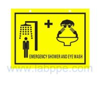 Wholesale SHS2030-Safety shower and eyewash sign,PVC safety sign from china suppliers