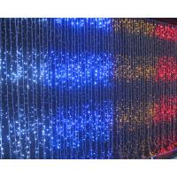 Quality Flat emitting 110v fairy outdoor led christmas lights curtain CE ROHS approval for sale