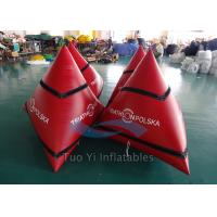 Wholesale Triangular Inflatable Water Buoy / Swimming Buoy With 0.6mm PVC Tarpaulin from china suppliers