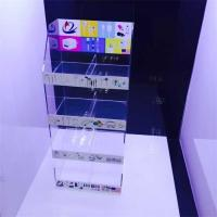 Wholesale clear acrylic mobile accessories display stand with sticker from china suppliers