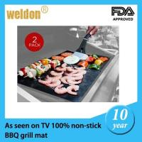 Wholesale FDA Teflon fiberglass BBQ Grill Mat Barbecue Mat Safe 260 degree from china suppliers