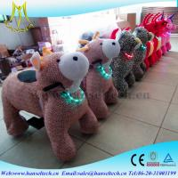 Wholesale Hansel amusement arcade games giant plush animals kids riding electric dog walking machine coin operated toy ride from china suppliers