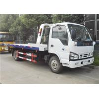 Wholesale ISUZU 4x2 Small Tow Truck , 6 Wheels 3 Ton Flatbed Wrecker Truck For Two / Three Cars from china suppliers