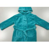 Wholesale Warm Blue Winter Knit Pajamas Sets Mens Hooded Bathrobes Dressing Gown from china suppliers