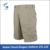 Wholesale Light Khaki TC Ripstop Military Cargo Shorts , Tactical Dress Pants For Summer from china suppliers