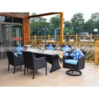Wholesale CA1607T  rattan dining table with tile top capture rim patio rattan coffee table set from china suppliers