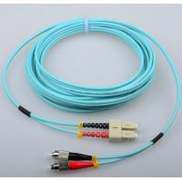 Wholesale SC/PC-FC/PC OM3 3.0mm aqua fiber optic patch cord customized from china suppliers