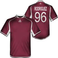 Wholesale Customized Football Uniforms, Maroon Half Sleeve Sublimated Soccer Jersey For Adult from china suppliers