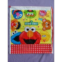 Wholesale Kids Cute Plastic Drawstring Backpack With Sesame Street Cartoons from china suppliers