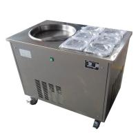 Wholesale Stirring Fry Fruit Yogurt Fried Ice Cream Rolls Machine/ Single Pan with 6 Cooling Tanks from china suppliers