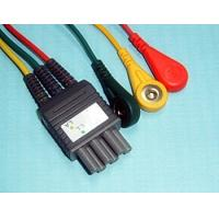 TPU 3 Lead ECG Lead Wires ICE Cable , 6 PIN Colin BP88 / BP306