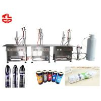 Wholesale Semi Automatic Deodorant Filling Machine , Tin Can Spray Filling Machine from china suppliers