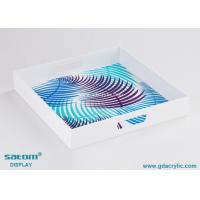 Wholesale Modern Pretty Monogrammed Acrylic Square Serving Tray 12 Years Experience from china suppliers
