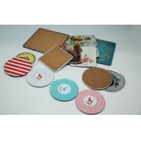 Wholesale Custom Metal Tin Box Cork Board Coaster Set Tinplate ISO9001 RoHS from china suppliers