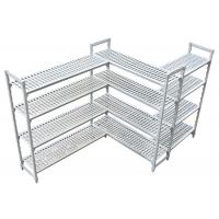Durable Heavy Duty Plastic Shelving Vented / Slotted Angle Shelving Rust - Proof