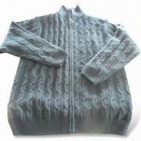 Wholesale Men's Outdoor Sweater with Full Zipper Closure, Available in Various Sizes from china suppliers