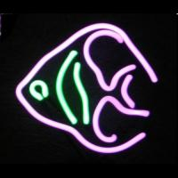Wholesale 12V Angel Fish Neon Sculpture Small Neon Open Sign With 110V Transformer from china suppliers