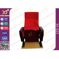 Wholesale Red Large Iron Leg Auditorium Theater Chairs For Conference Fire Retardant from china suppliers