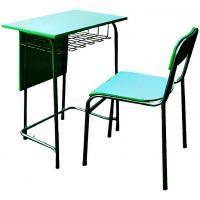Wholesale School furniture single desk and chair plywood and metal frame from china suppliers