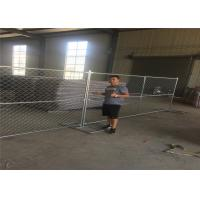 Wholesale 8ft x 12ft temporary chain link fence 12ga wire diameter chain mesh spacing 50mmx50mm hot dipped galvanized free stand from china suppliers