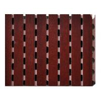 Wholesale Red Fireproof MDF Wooden Grooved Acoustic Panel For Television Studios from china suppliers