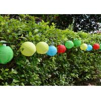 Wholesale Multi Color Solar Ball String Lights Water Resistant With 10 Piece Lanterns from china suppliers