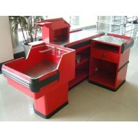 Wholesale Industrial Metal Supermarket Checkout Counter / Retail Cash Table With Bag Holder from china suppliers