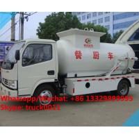 Wholesale factory sale best price dongfeng 120HP 4tons side lifting bins food garbage truck,6m3 wastes food collecting vehicle from china suppliers