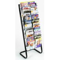 Wholesale Chrome Plating Shelves Magazine Display Racks , 20 Pockets Paper Magazine Floor Display from china suppliers