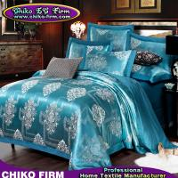 Wholesale Cotton Material Lake Green Flowers Jacquard Bedsheet Duvet Cover Sets from china suppliers