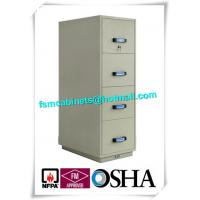 Wholesale Steel Fireproof File Cabinets 4 Drawer For Important Papers / Medium / Data from china suppliers
