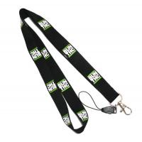 Wholesale Sport Games Safety Break Plain Black Lanyard Neck Strap Pantone Colored from china suppliers