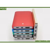 Wholesale Mini 4000mah Battery Charger , Blue / Red Cell Phone Power Bank With Led Light from china suppliers