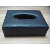 Wholesale Silk screen printing or Primary colour embossed custom Logo Hotel PU Leather tissue box from china suppliers