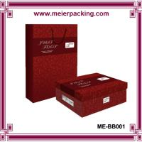Quality Custom printed paper packaging boxes & bags for men lady shoes ME-BB001 for sale