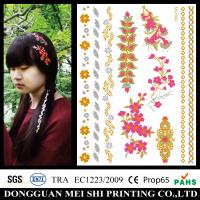 Wholesale Water Transfer Metallic Hair Tattoo Sticker For Girls / Womens / Childrens from china suppliers