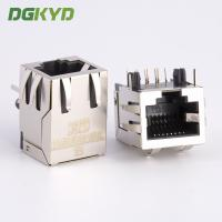 Wholesale Standard parts single port right angle shield rj45 connector without transformer from china suppliers