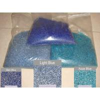 Buy cheap Blue glass bead pebble for pool finishes from wholesalers