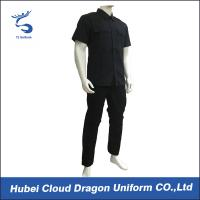 Wholesale OEM & ODM Summer Black SWAT Uniform , Men Duty Pro Uniforms With Pleat Pocket from china suppliers