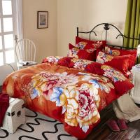 Wholesale Luxury 9 Pieces Home Bedding Comforter Sets Double Full Size Red Color from china suppliers