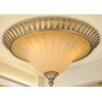 Wholesale Silver / Gold Hotel Hall Wrought Iron Ceiling Lights 3 Light with Metal ,Glass from china suppliers