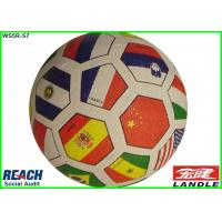 Wholesale Youth Flag Football Rubber Soccer Ball Size 3 / Colorful Soccer Balls from china suppliers