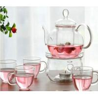 Wholesale Transparent Color Glass Water Kettle Glass Tea Kettle With Infuser Lw-K24 from china suppliers
